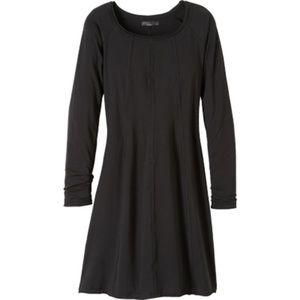Prana Casual Long-Sleeve Dress (Black)